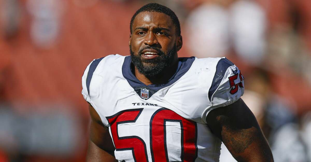 Defensive end Jordan Jenkins did not play in the Texans' Thursday night game against the Panthers.