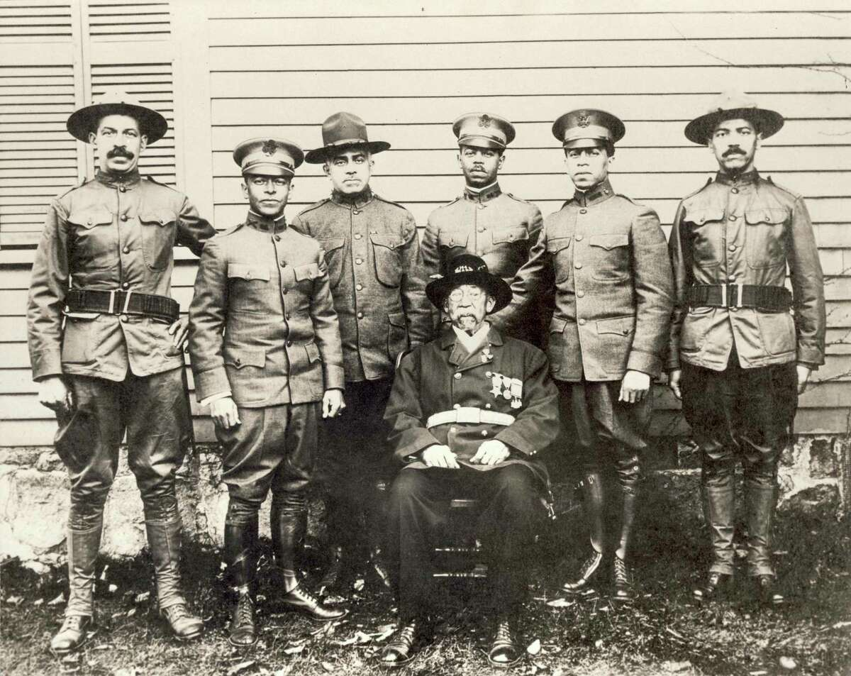 William B. Gould and his six sons, all in the service.