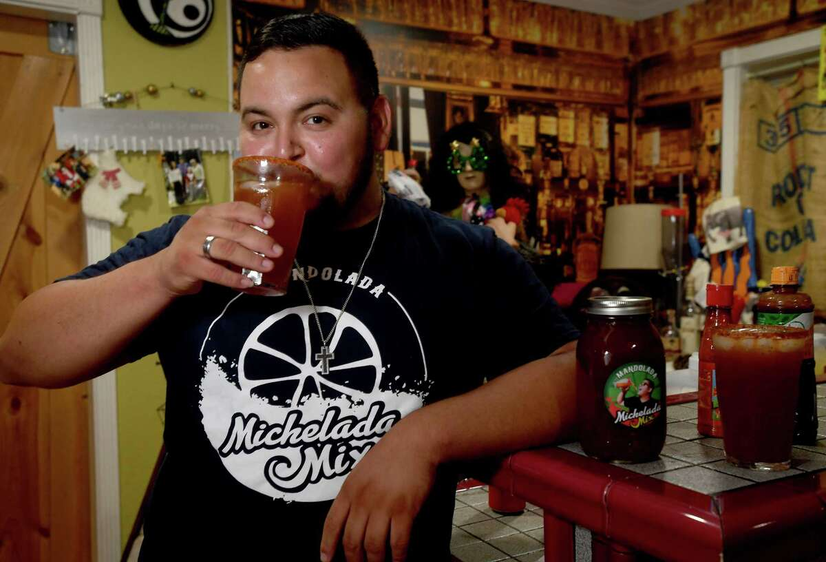 Armando Acosta, creator of Mandolada Michelada Mix, finally got his business underway when the pandemic hit, and he's been branching out to establishments throughout Beaumont and beyond. Photo made Tuesday, September 21, 2021 Kim Brent/The Enterprise
