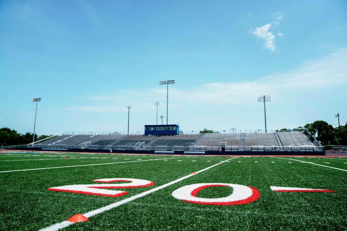 20-yard line on football field