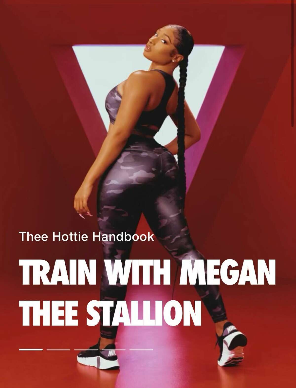 Houston rapper Meg Thee Stallion is collaborating with Nike for a series of workouts designed to build energy, endurance and balance, all accessible through the Nike Training Club app.
