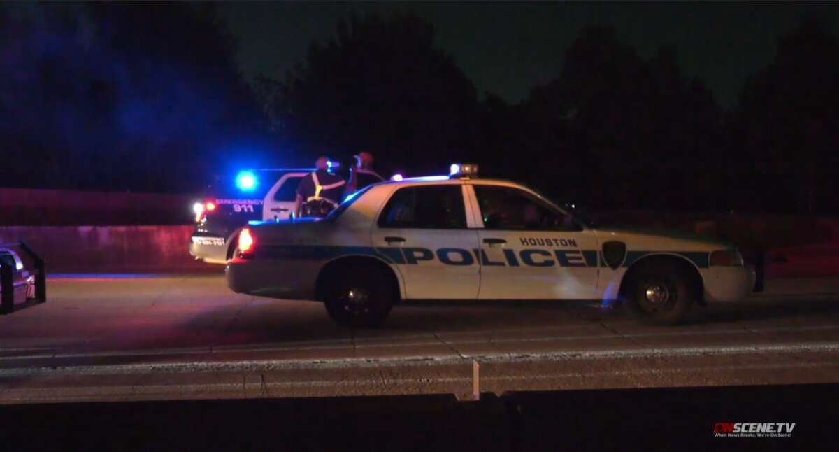 A woman died after a vehicle struck her and left early Friday morning, according to Houston Police.
