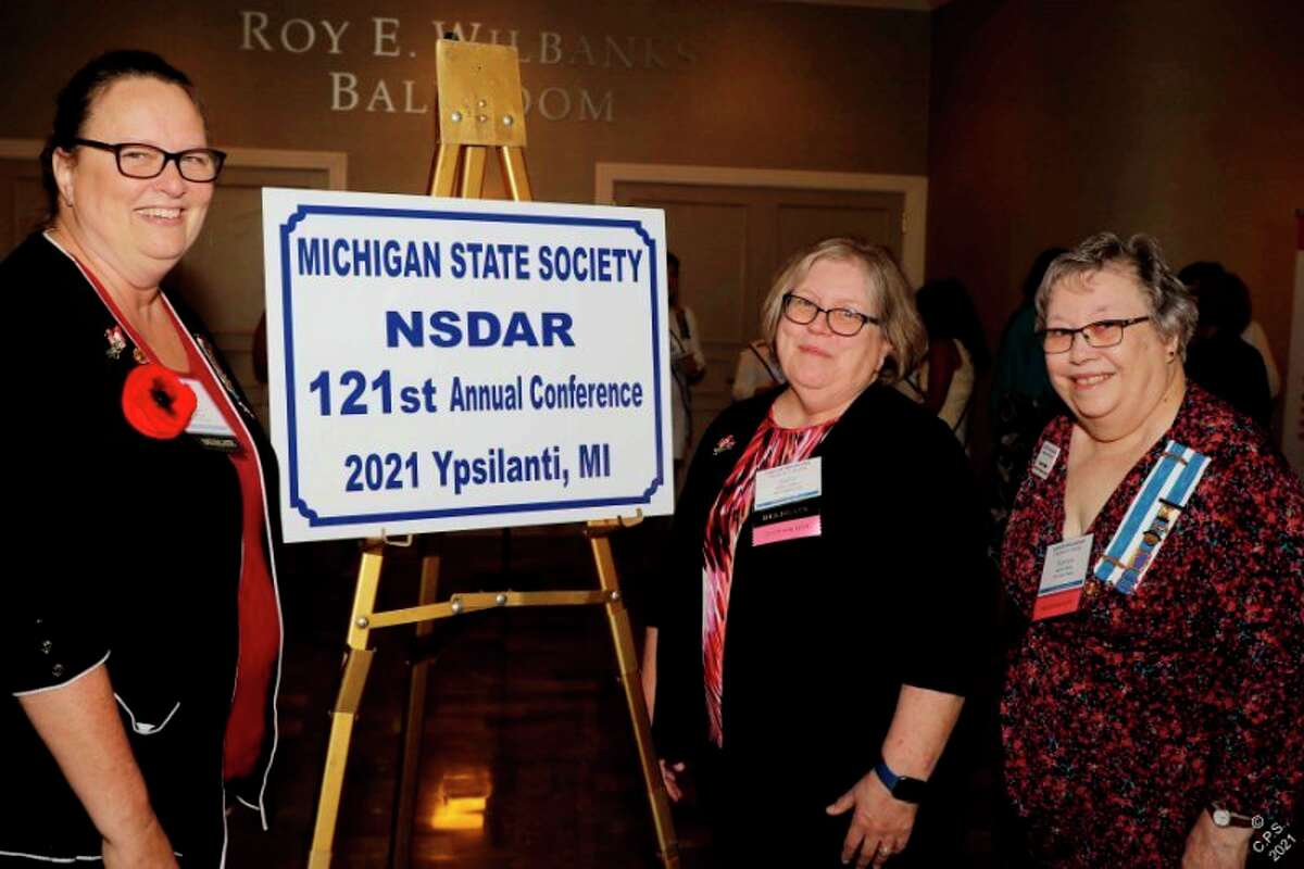 Lynn Schiel, Julia Lauless and Karen Miller recently attended the state Daughters of the American Revolution conference. (Photo provided)