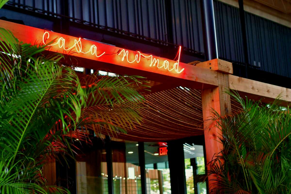Entrance to Casa Nomad, a new Tulum-inspired lounge and coastal Mexican restaurant at M-K-T Heights, 600 N. Shepherd.