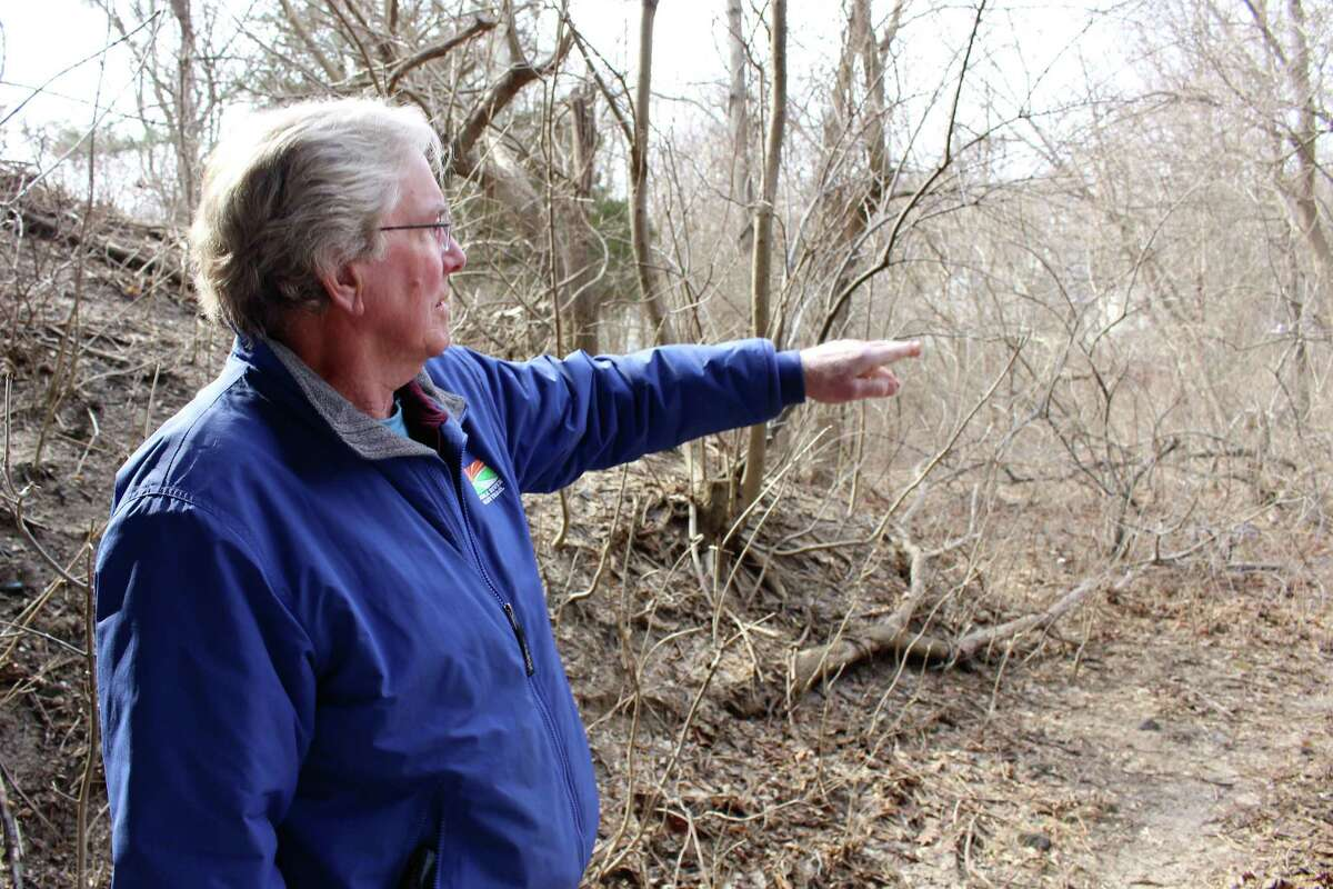 Charlie Taney, executive director of the Norwalk River Valley Trail, shows off part of the Norwalk River Valley Trail in 2019.