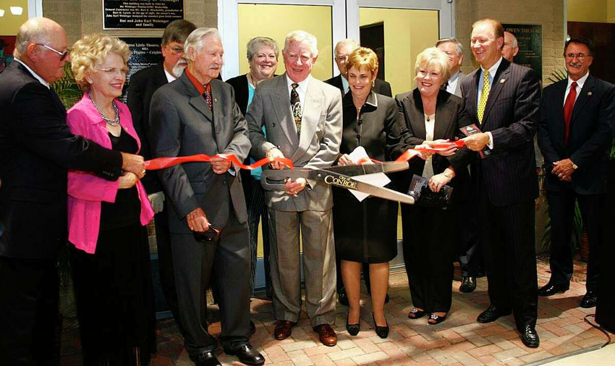 Rigby and Lucinda Owen, center, cut the ribbon at dedication ceremonies for the Owen Theatre in 2008. Rigby and Lucinda Owen have done much to contribute to the city over the years. In their honor, the old YMCA property has been named Owen Park.