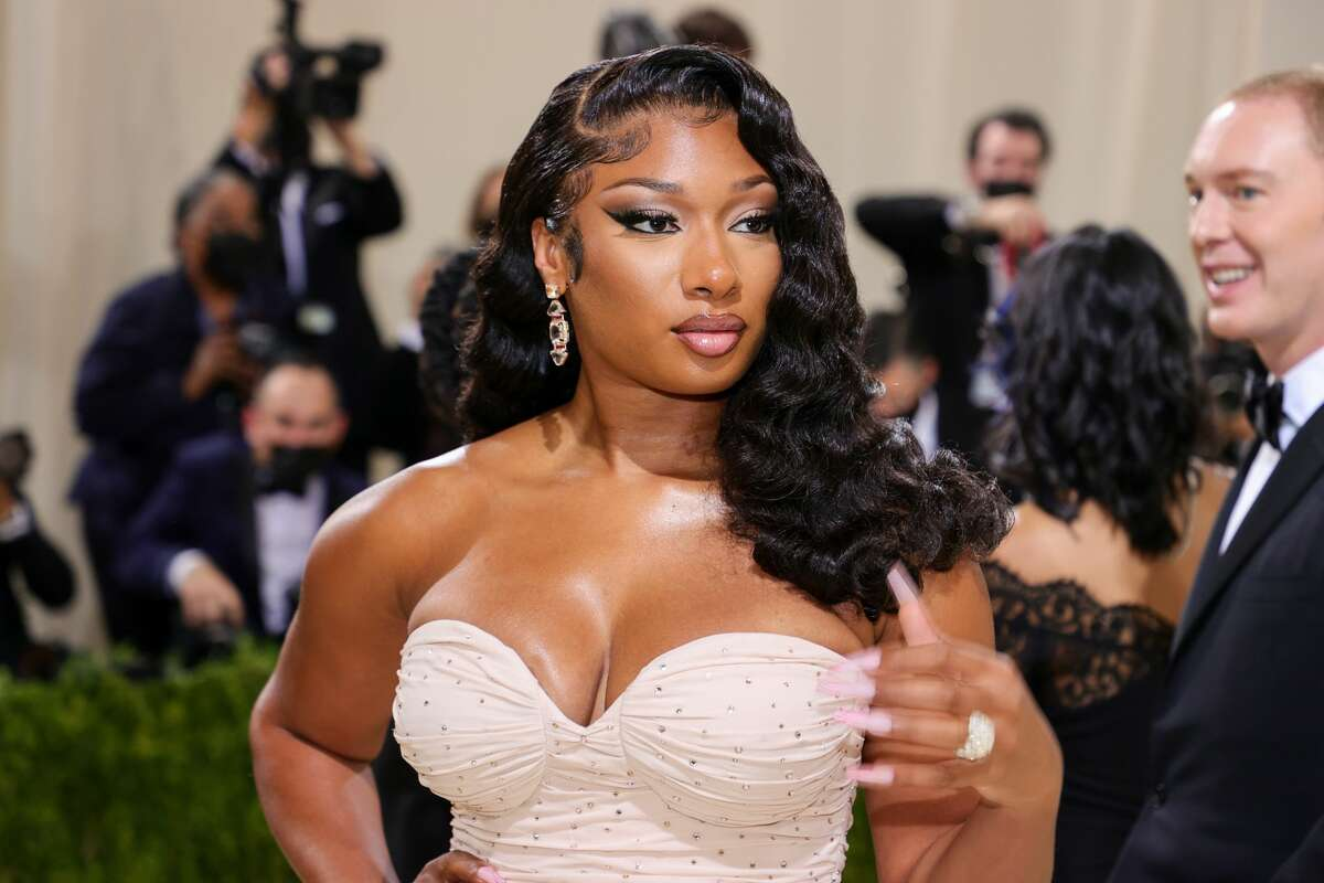 Megan Thee Stallion attends The 2021 Met Gala Celebrating In America: A Lexicon Of Fashion at Metropolitan Museum of Art on September 13, 2021 in New York City.