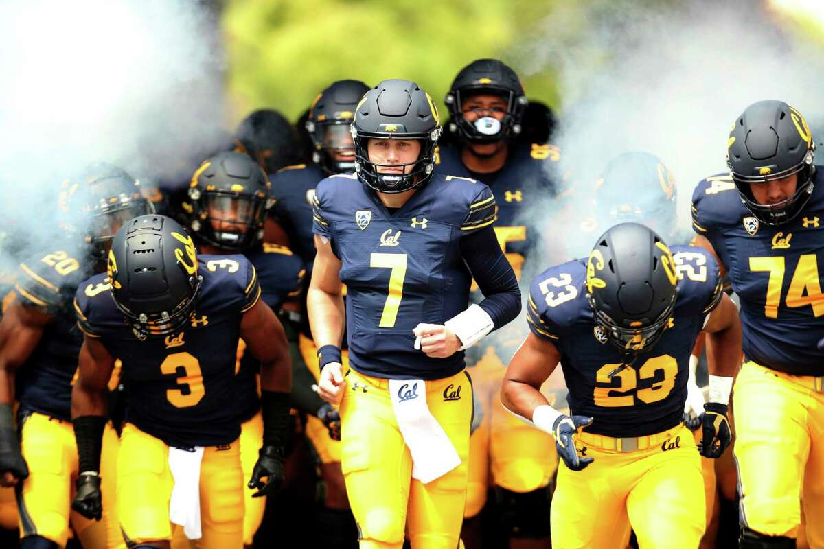 California quarterback Chase Garbers (7) enters the field against Sacramento State prior to an NCAA college football game on Saturday, Sept. 18, 2021, in Berkeley, Calif. (AP Photo/Jed Jacobsohn)