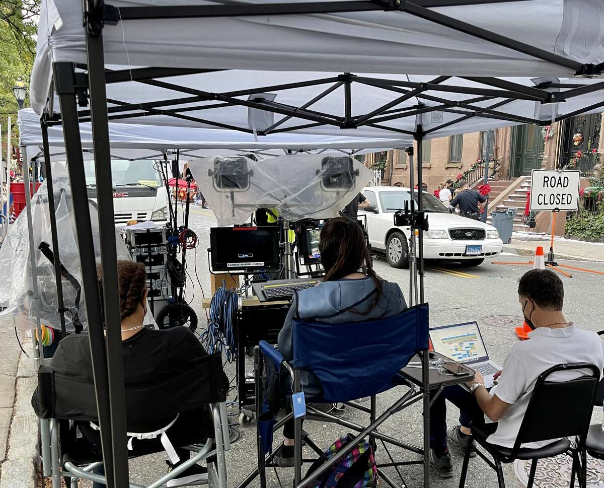 """Behind-the-scenes footage of """"Holiday in Harlem,"""" a Hallmark film shot in Hartford, Conn. Rocky Hill-based production company Synthetic Cinema International worked on the film."""