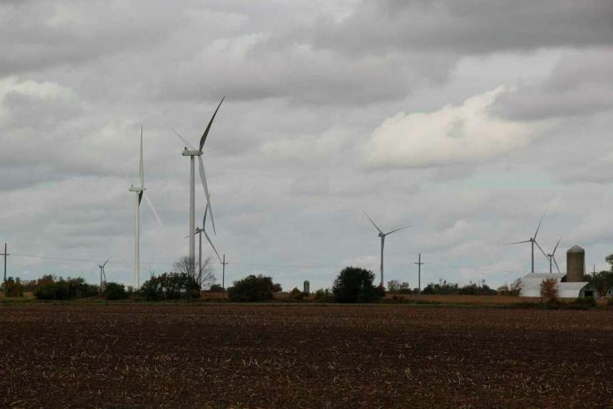 New legislation introduced in the state Legislature would set a definite tax table for the depreciation of wind turbine's taxable value. The legislation comes as turbines across Michigan have tax tribunal suits against them, including those in Huron County. (Tribune File Photo)
