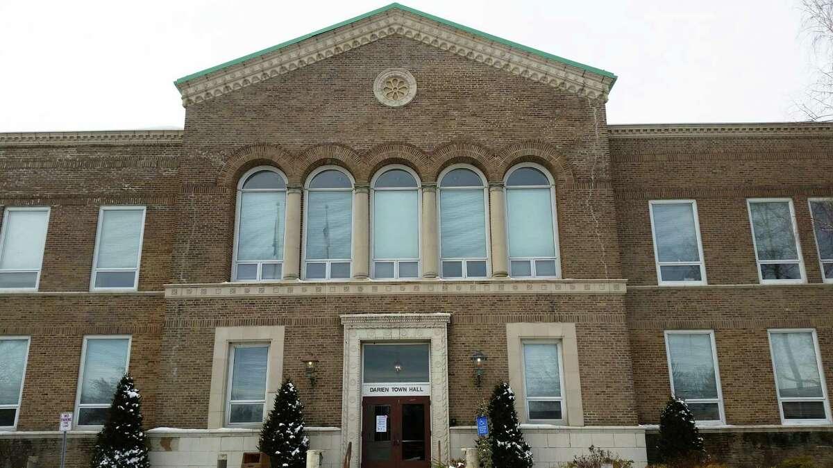 File photo of Darien Town Hall