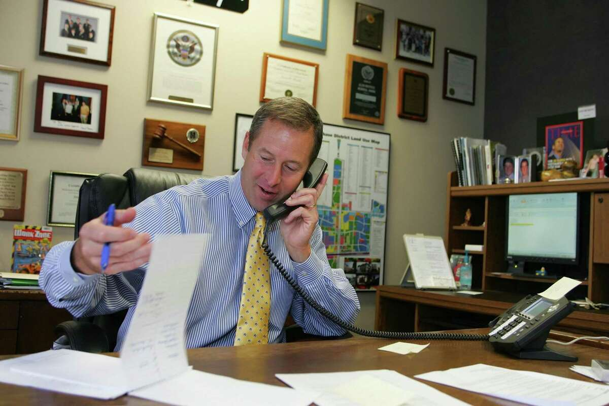 State Rep. Jim Murphy, R-Houston, is pictured in his office.