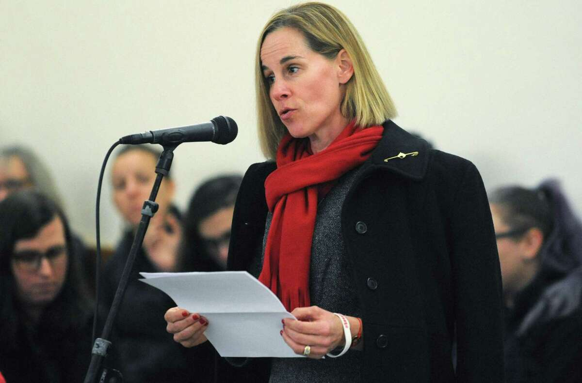Kristen Song, who lost her son Ethan to irresponsible gun use, speaks during the Wilton Quaker Meeting of the Religious Society of Friends Remembrance Vigil for All Victims of Gun Violence Saturday, December 8, 2018, at their facility in Wilton, Conn. The event was associated with the 6th Annual National Vigil being held in Washington, D.C. Wednesday.