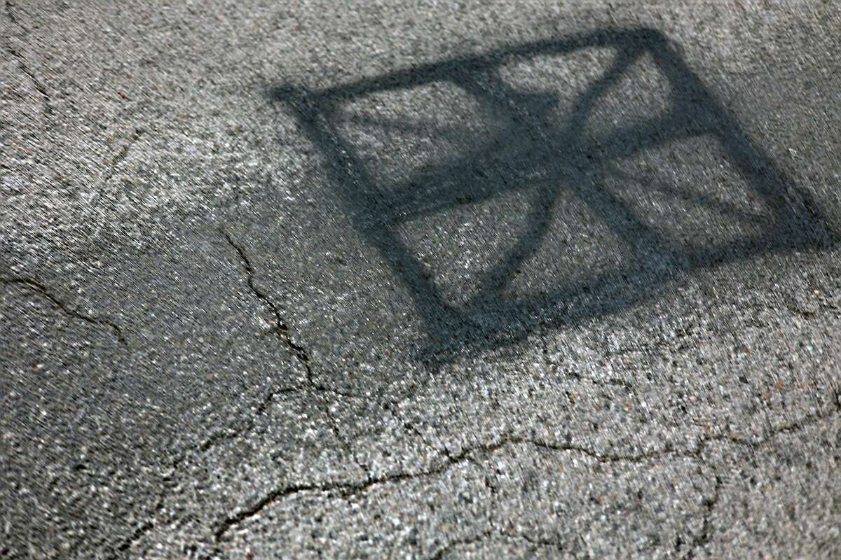 A swastika was painted over on the corner ofFox Farm and Red Apple road(s). (Jeff Zide/News Advocate)
