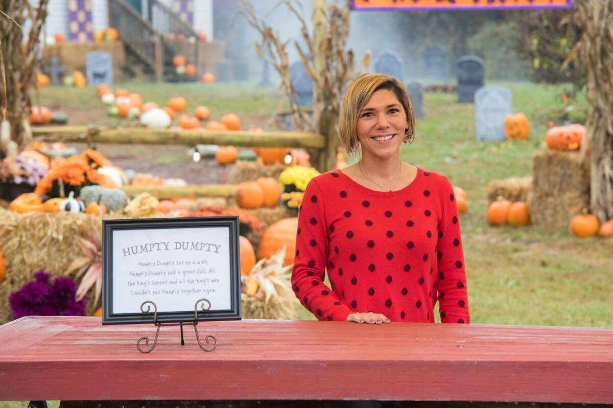 """Contestant Chrissy Scarpati of Monroe as seen on Food Network's """"Outrageous Pumpkins,"""" Season 2."""