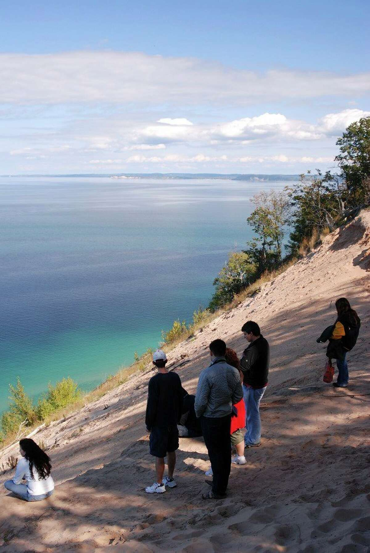 Visitors enjoy Pyramid Point overlook. (Courtesy Photo/National Park Service)