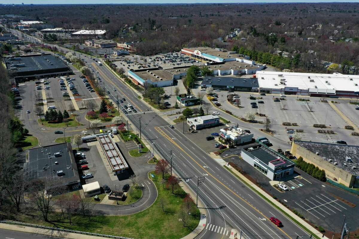 Connecticut retail area along Route 1 in Norwalk, CT.