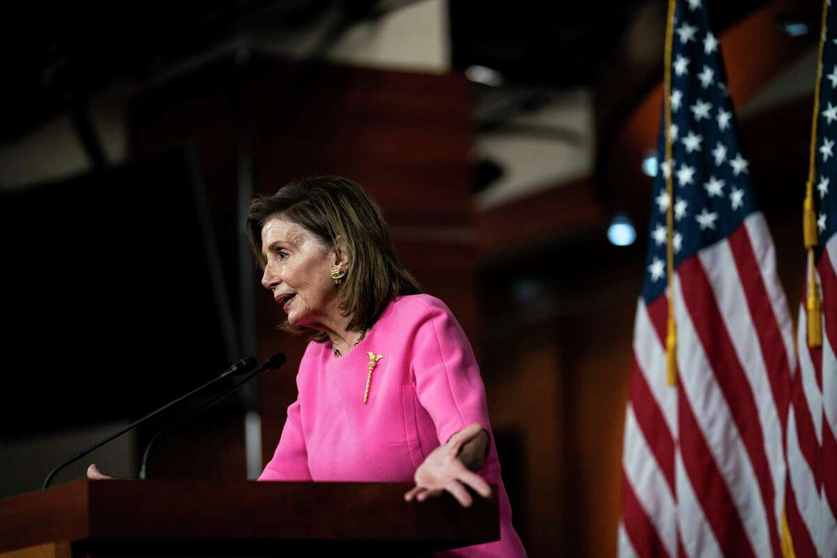 Speaker of the House Nancy Pelosi, D-Calif., speaks during her weekly press conference on Capitol Hill on Sept. 23, 2021 in Washington.