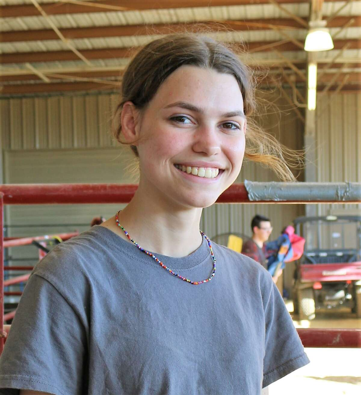 """""""I've been doing this since (my) freshman year,"""" Naomi Browning says of raising livestock for shows such as the Pasadena Livestock Show and Rodeo."""