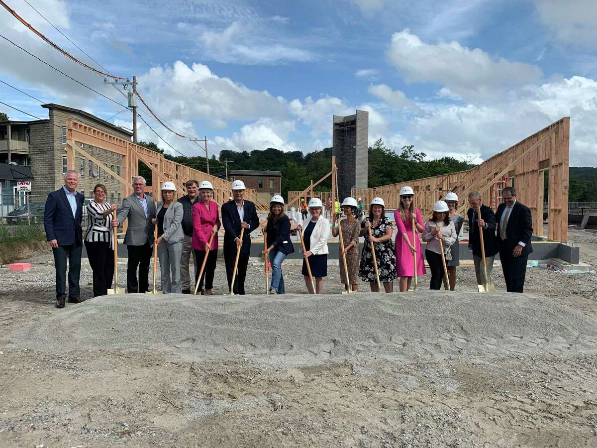 Pennrose, The Cloud Company, and the City of Torrington on Sept. 23 celebrated the groundbreaking of Riverfront, a mixed-use, mixed-income residential community replacing the former Torrington Manufacturing Company (Torin) site along the Naugatuck River on Franklin Street in downtown Torrington