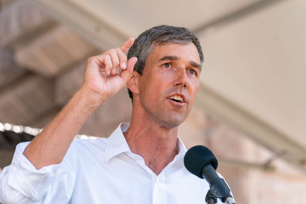 Beto O'Rourke speaks at the We Are the Moral Resurrection! Georgetown-to-Austin March for Democracy rally to support voting rights at the Texas State Capitol on July 31, 2021, in Austin, Texas.