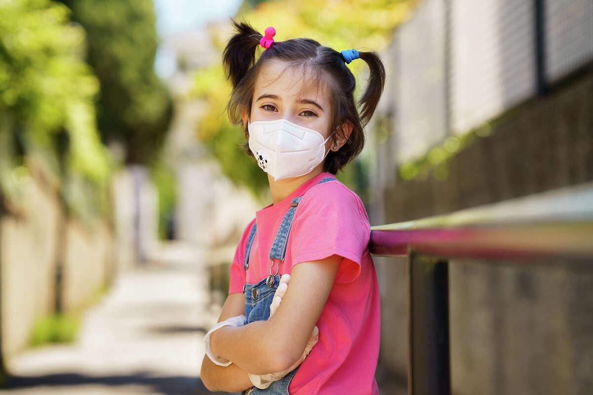 Kids' KN95 mask, adjustable