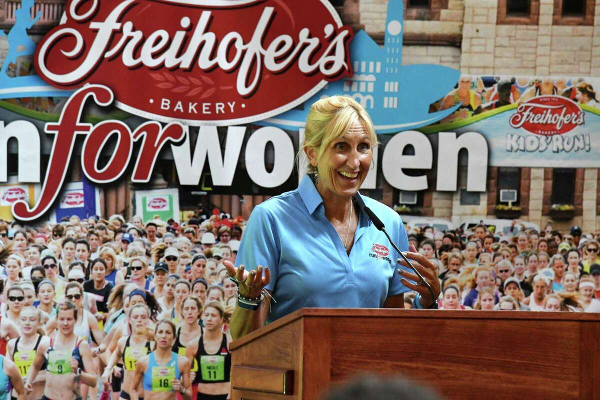 Freihofer?•s Run for Women race director Kristen Hislop offers insight on Saturday?•s race during a press conference on Friday, Sept. 24, 2021, at The Armory at Russell Sage in Albany N.Y.