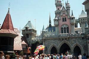 Disneyland in 1955.