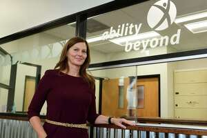 Jane Davis, CEO for The Bethel-based disabilities services giant, Ability Beyond, at their facility in Norwalk, Conn. October is national disabilities awareness month.