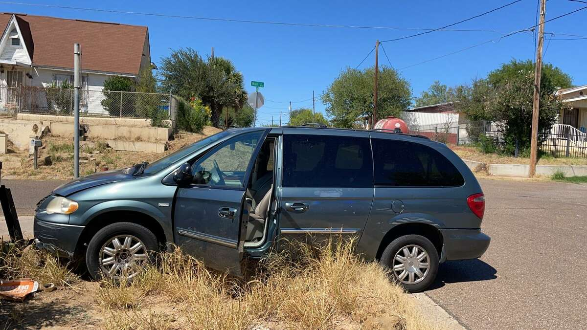 County and federal authorities said the driver of this van led them on a chase on Thursday afternoon. The driver along with 51 migrants found inside a south Laredo stash house were detained pending further investigation.