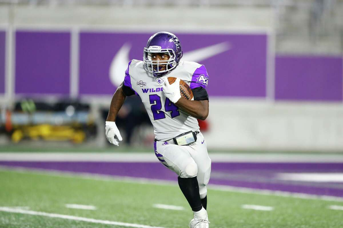 ACU running back and Hamshire-Fannett graduate Tyrese White should be a factor on Saturday when the Lamar Cardinals host the Wildcats at Provost Umphrey Stadium.