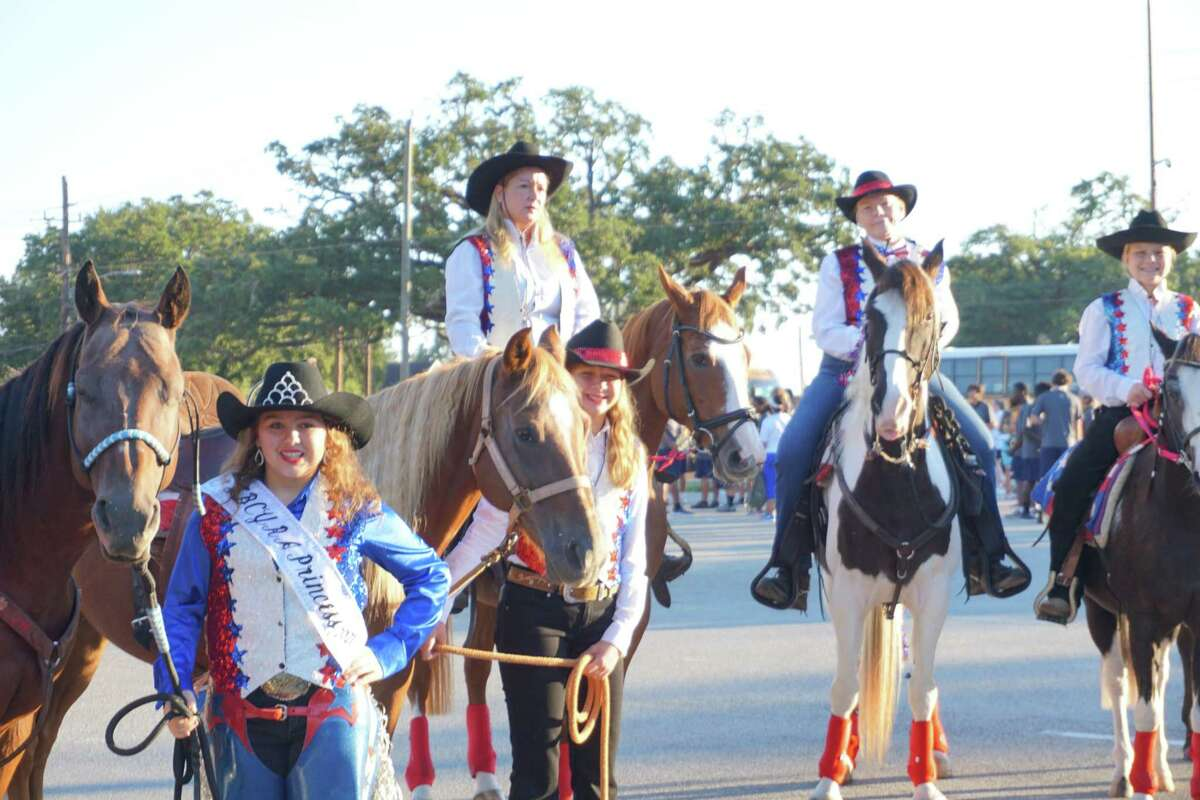 """Rodeo Sweethearts wait to ride in the 85th Annual Fort Bend County Fair """"Tradition Returns"""" Parade on Friday, Sept. 24, in downtown Richmond."""
