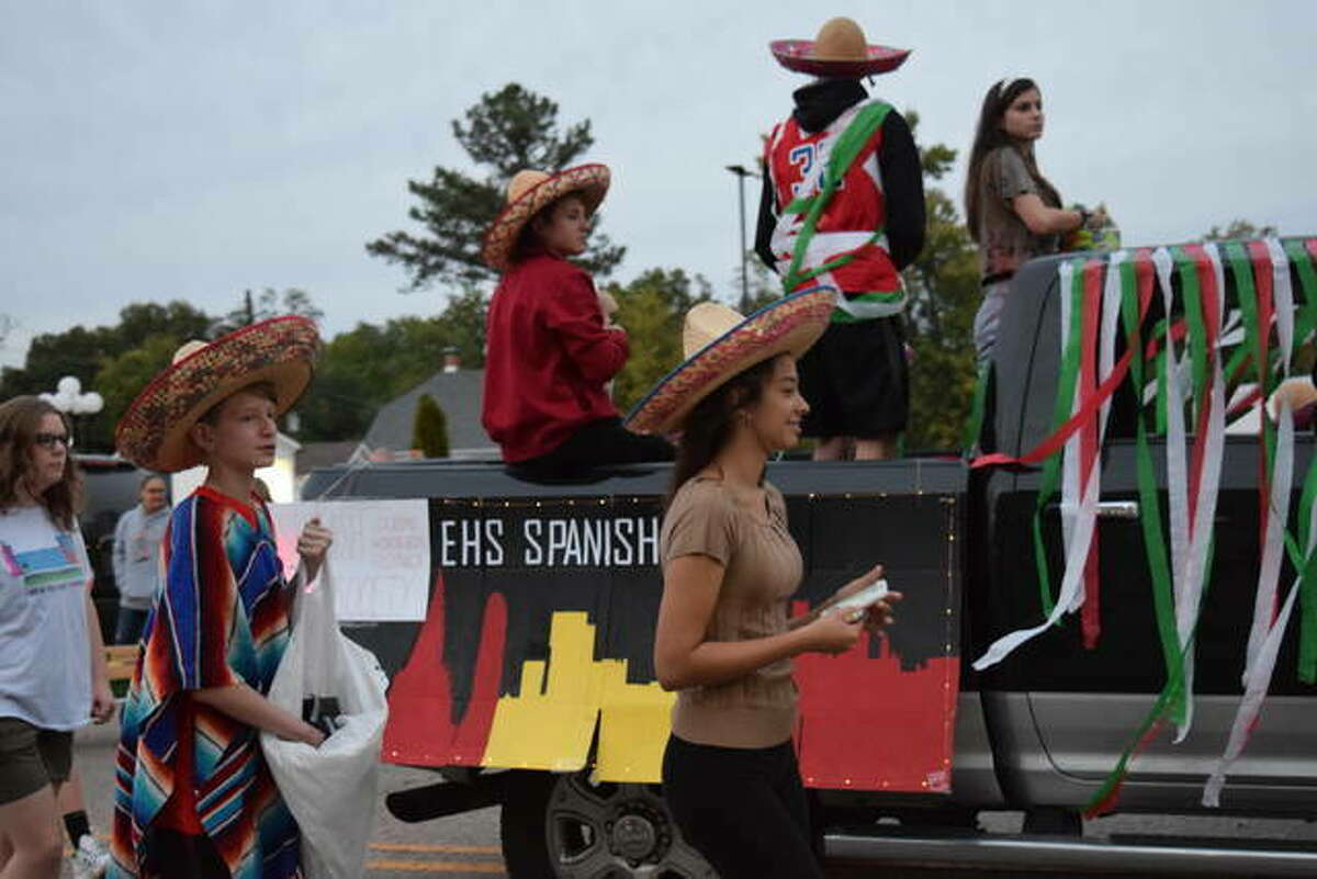 Edwardsville High School Homecoming Parade in 2019.
