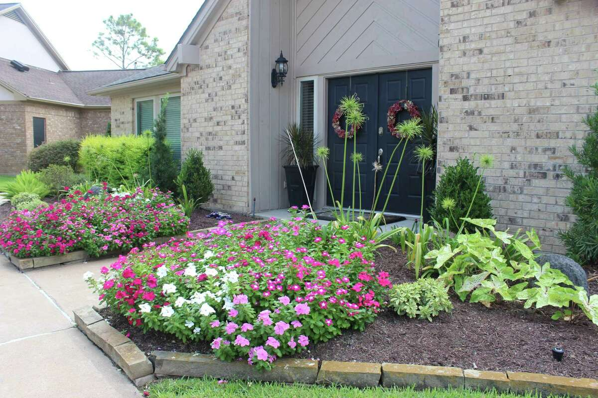 Dona Lohman's home was deemed to have the yard of the month by the Quail Valley Garden Club.