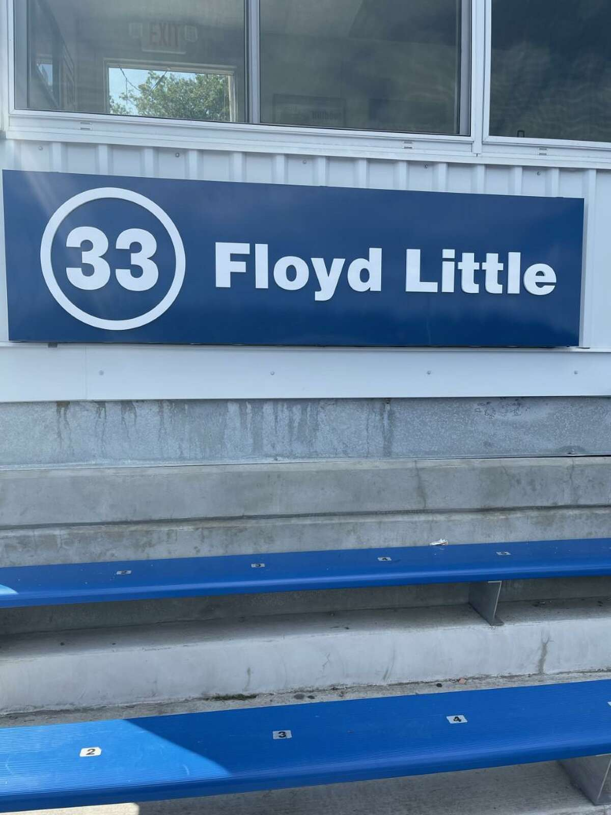 Floyd Little's No. 33 Hillhouse number was officially unveiled at a pregame ceremony on Friday at Bowen Field in New Haven.