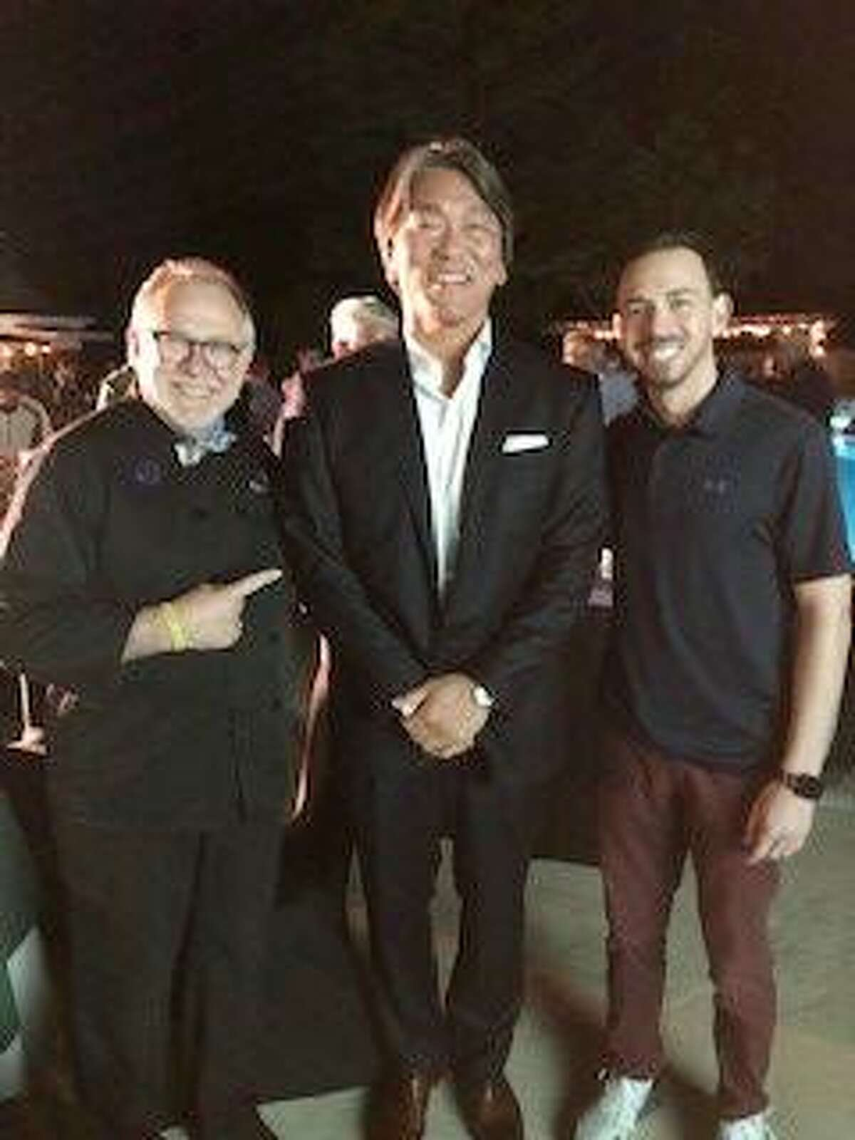 Sky Mercede, of Forever Sweet Bakery in Norwalk, former New York Yankees All-Star Hideki Matsui, and Sky Mercede II at the Champion a Champion Golf Classic at Tamarack Country Club in Greenwich, Conn. Monday, Sept. 20, 2021.