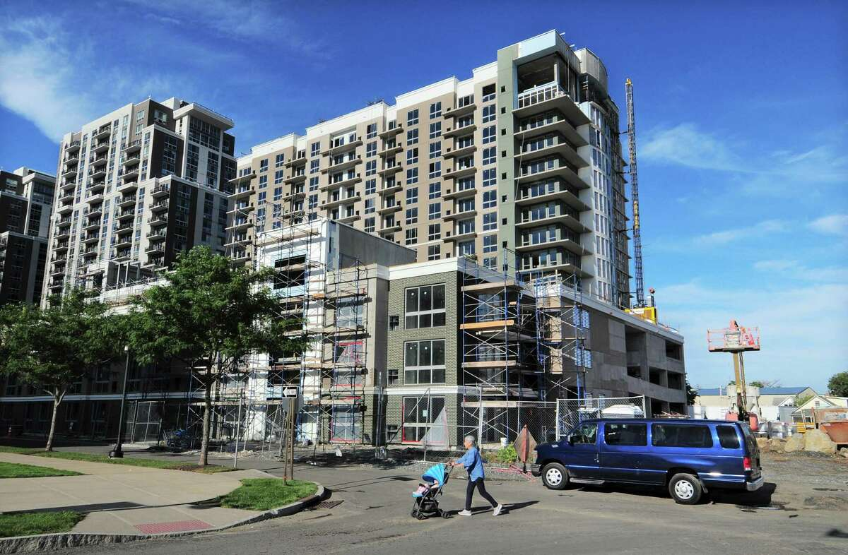 A view of Harbor Point Parcel Six under construction at the intersections of Bateman Way and Dyke Lane in Stamford, Conn., on Wednesday September 22, 2021.