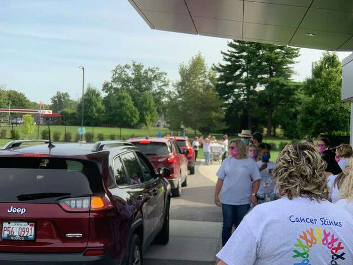 Additional photos from Friday afternoon's drive-by parade celebrating cancer patients and survivors at OSF HealthCare Saint Anthony's Health Center in Alton.