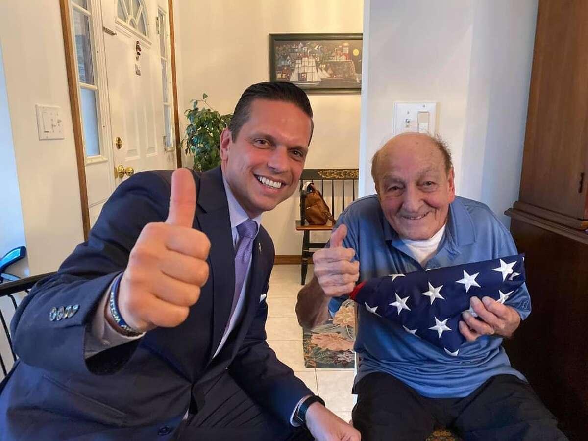 Ralph Fabozzi and Assemblyman Angelo Santabarbara.