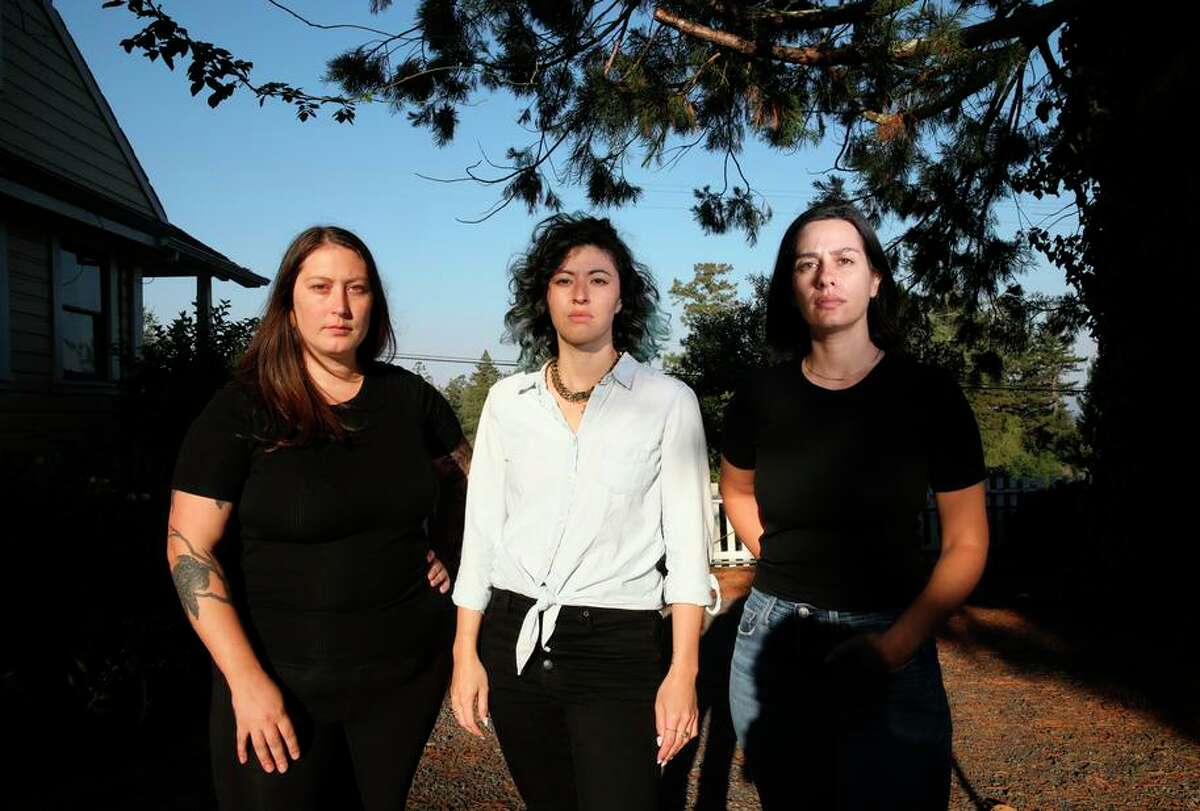 Alexandra Lopez (left), Jesse Hom-Dawson and Leah Engel are former employees of Lowell Sheldon who say they experienced a toxic work culture under the Sebastopol restaurateur's leadership.