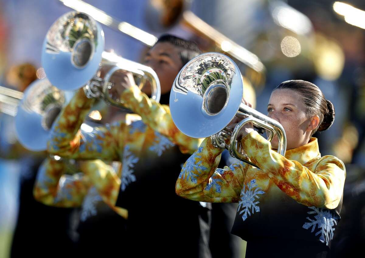 Oak Ridge High School competes in the Bands of America North Houston Regional Championship at Woodforest Bank Stadium, Saturday, Sept. 25, 2021, in Shenandoah. Twenty-seven bands from across the region took part in the annual marching competition.