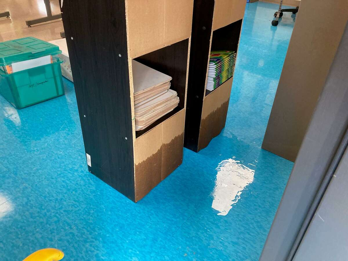 Parts of Strawberry Hill School were flooded with water due to heavy rain from Hurricane Ida.