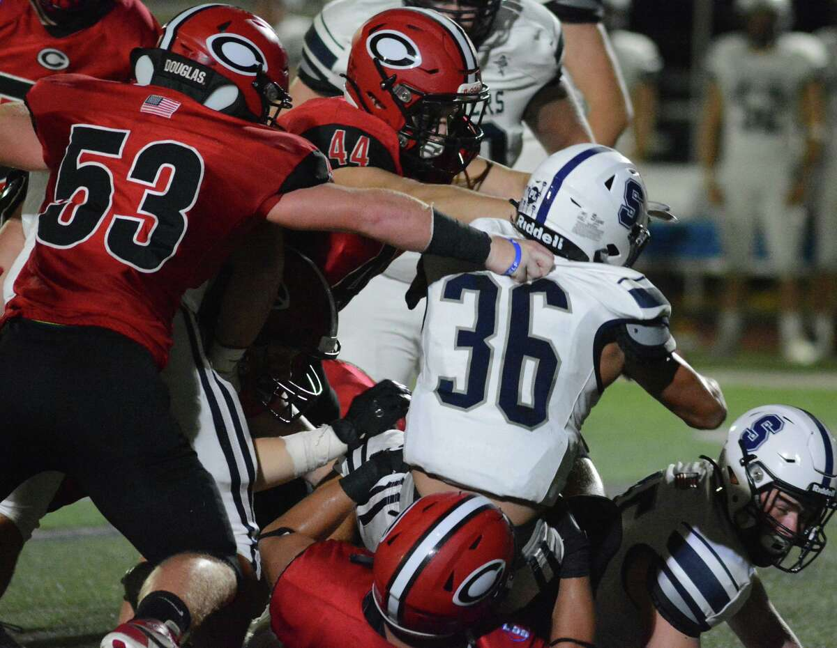 Staples High School and Cheshire High School played each other Friday night. Sept. 24, 2021 in Cheshire, Conn.