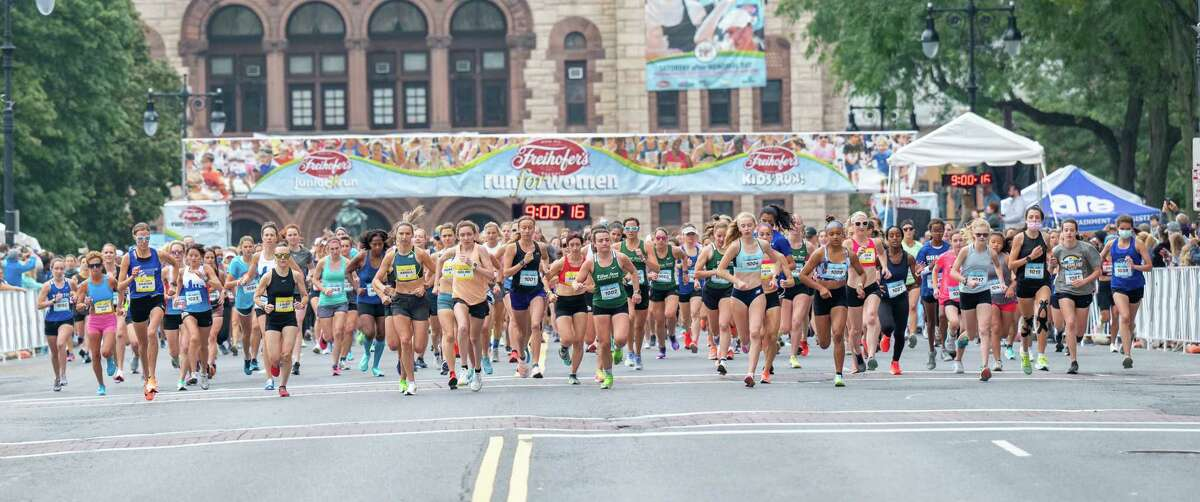 The start of the 43rd Freihofer's Run for Women in Albany on Sept. 25, 2021. (Jim Franco/Special to the Times Union)