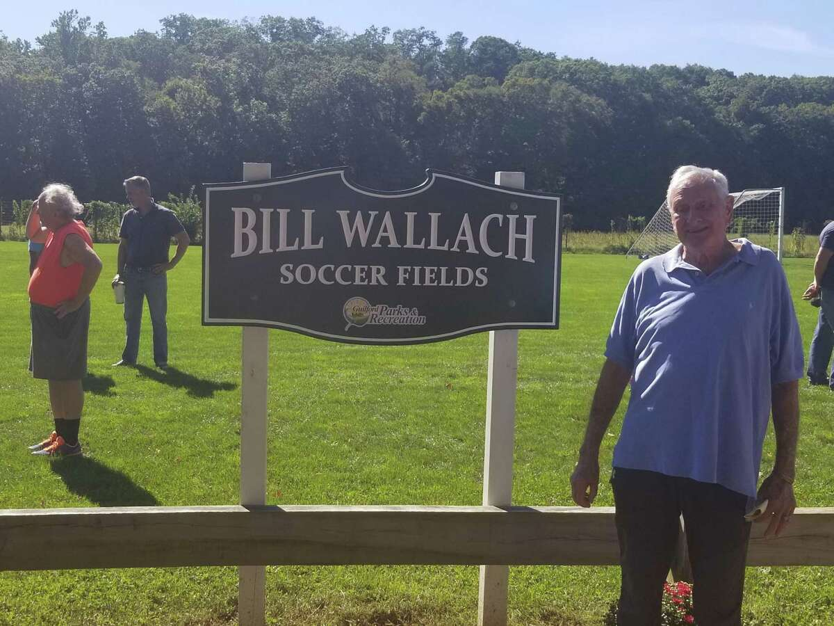 The Bill Wallach Soccer Fields were officially renamed at Cox Elementary School in Guilford on Sept. 25, 2021.