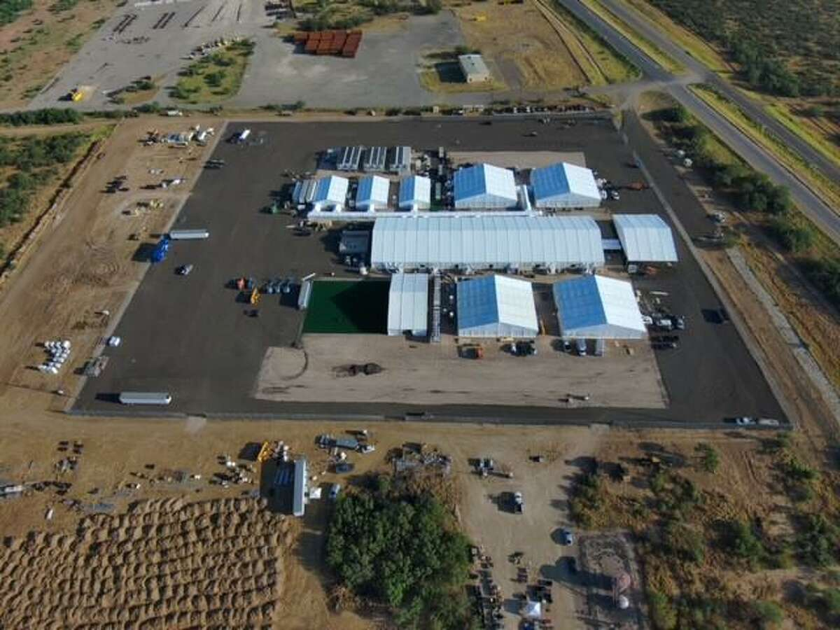 The intent of the soft-sided facility is to provide a suitable facility for agents to house and process single adults, family member units, and noncitizen unaccompanied children arriving at the Southwest Border.