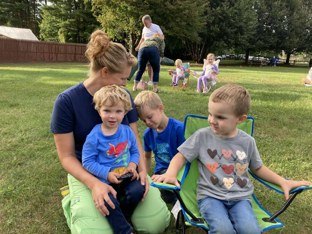 Rachele Koegl of Ballston Spa set up nearly 1,000 vaccine appointments for elderly people while juggling her three children: Theo, 2; Ollie, 4; and Ben, 6.