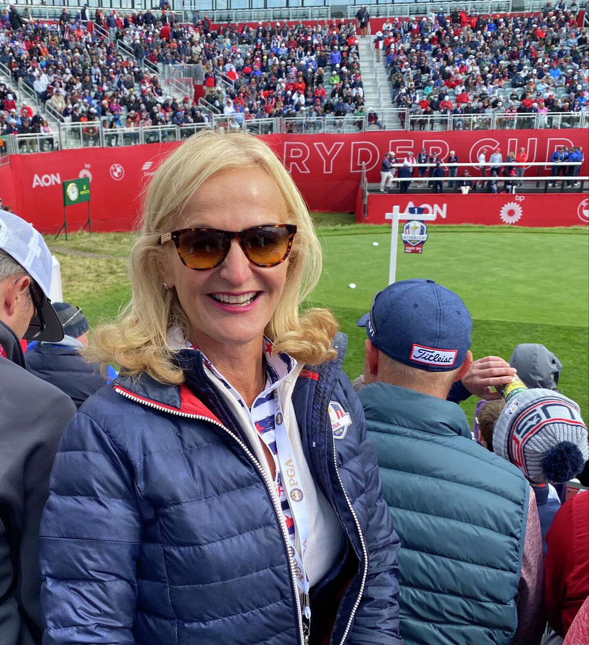 Ann Liguori covers the Ryder Cup at Whistling Straits on Saturday, Sept. 25, 2021. (Provided)