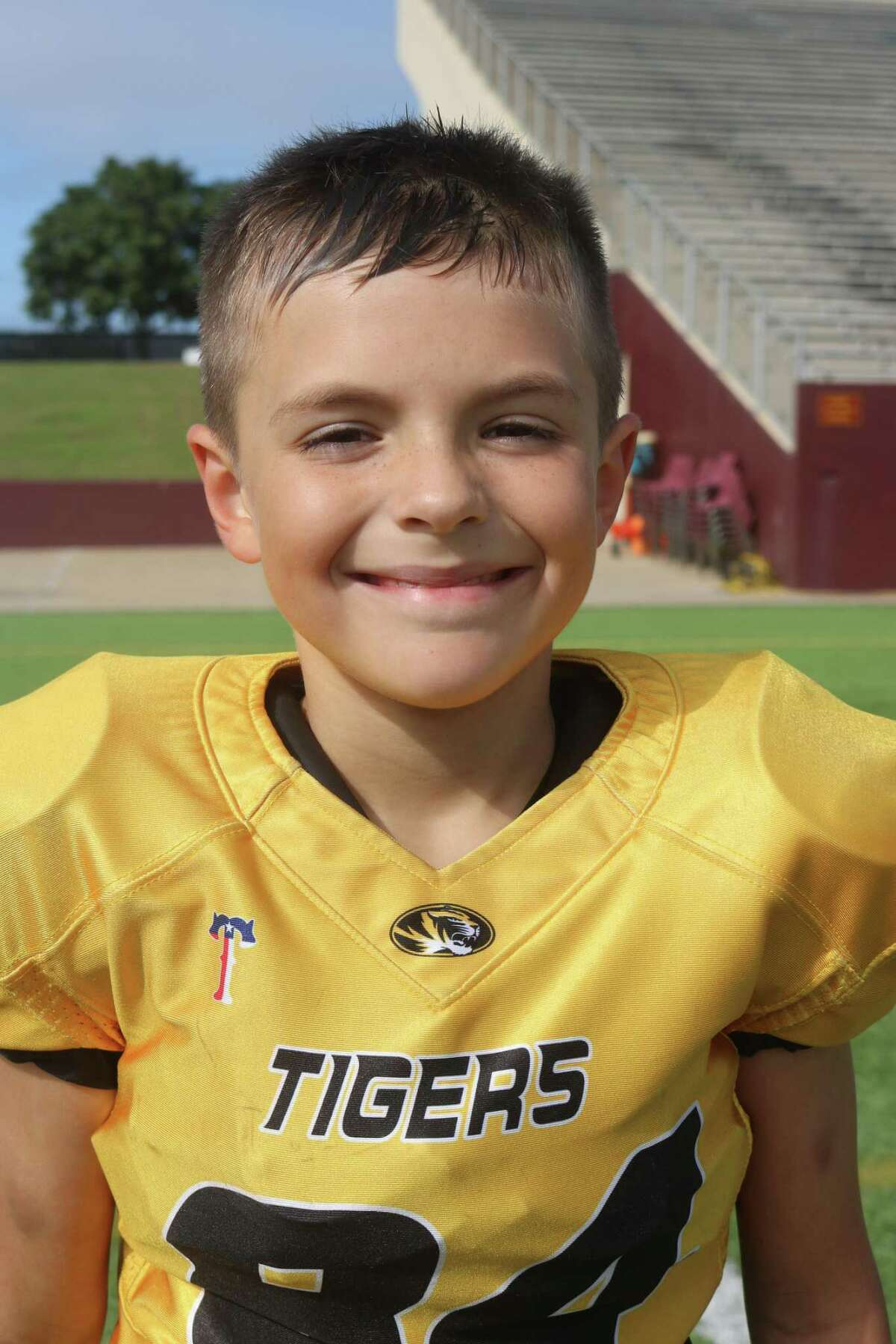 Deer Park Tigers player A.J. Beard was the only kid in America Saturday to receive a bloody nose from a referee's penalty flag. The bizarre moment came as the tteam battled the Sophomore Friendswood Colts.