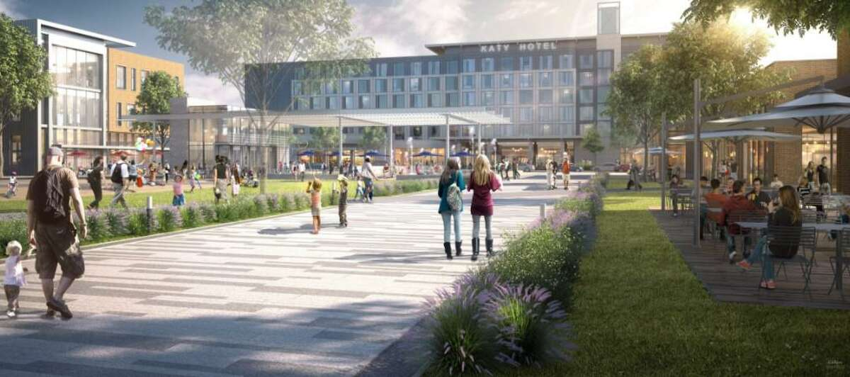 This artist rendering shows the concept for the new Katy Boardwalk District.